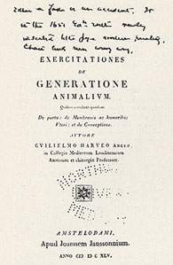 Title-page of Dr. Cutter&rsquo;s copy of Harvey&rsquo;s <em>De generatione</em>