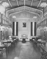Interior of the Historical Library at the Yale Univeristy School of Medicine dedicated 15 June 1941, and containing the collections of Dr. Harvey Cushing.