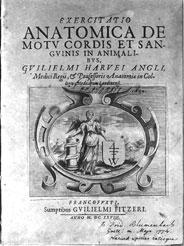 The title-page of William Harvey's <em>De Motu Cordis</em> (1628)